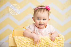 Vintage Yellow Chevron photography backdrop & background