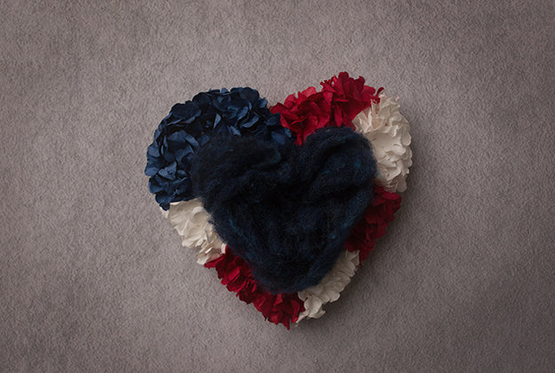 Digital Backdrop | Red White And Blue Heart
