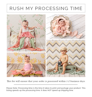 Rush My Processing Time photography backdrop & background