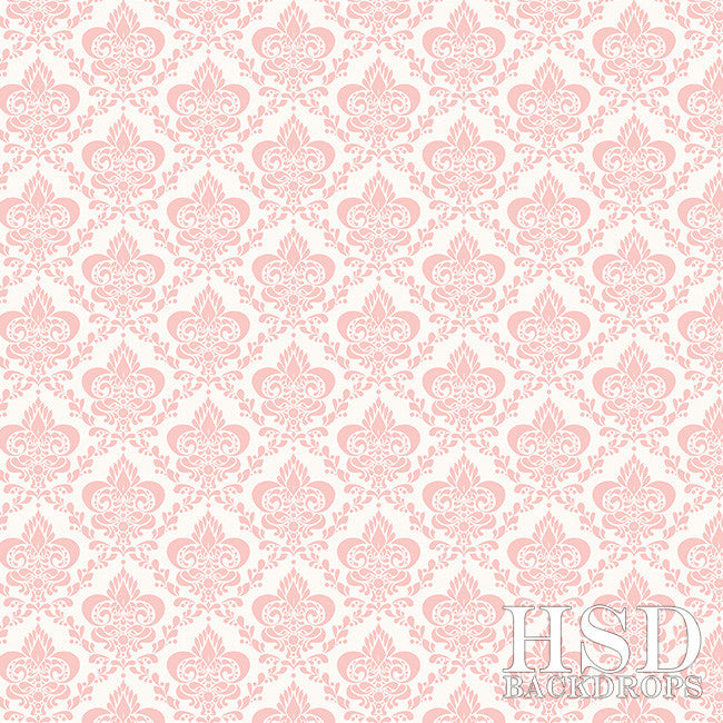 Photography Backdrop | Soft Pink Damask