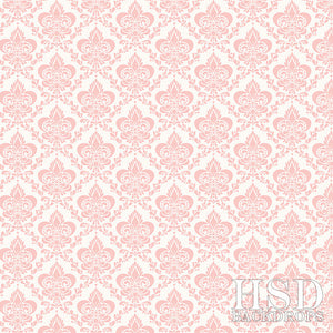 Soft Pink Damask photography backdrop & background