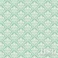 Photography Backdrop | Mint Green Damask
