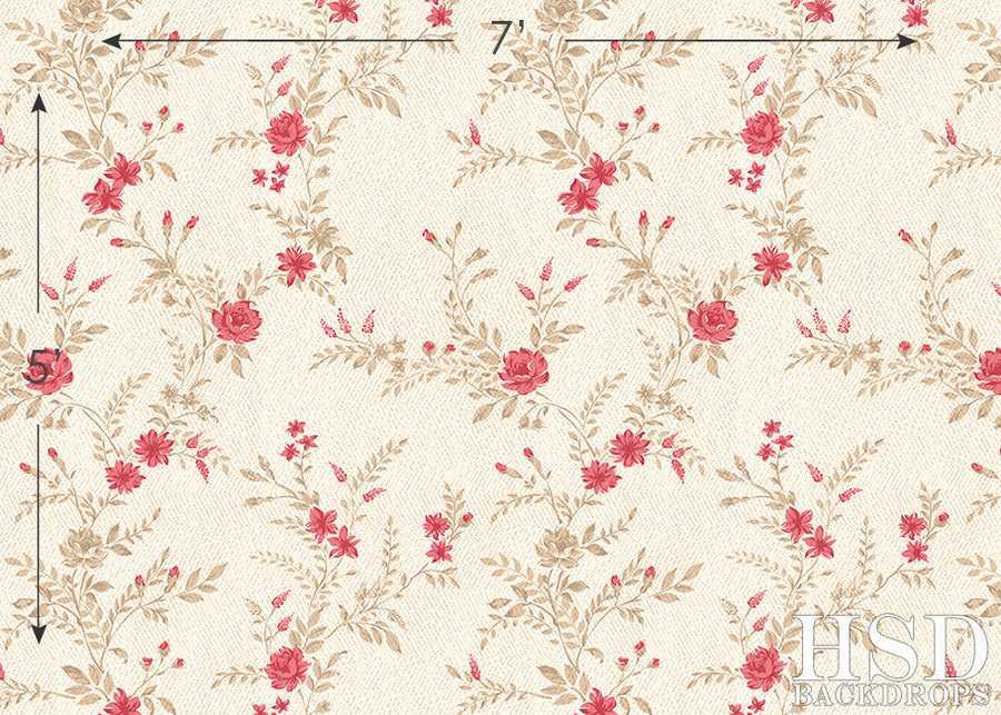 Natalia Floral photography backdrop & background