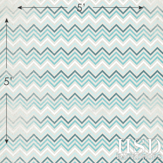 Textured Chevron Blue - HSD Photography Backdrops