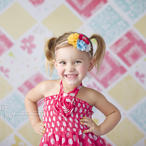 Summer Quilt Pattern photography backdrop & background