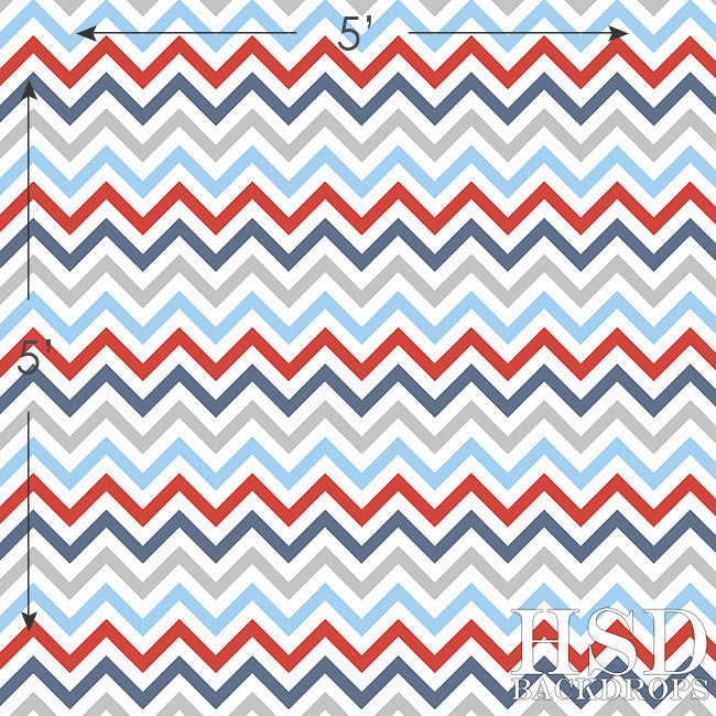 Nautical Chevron photography backdrop & background