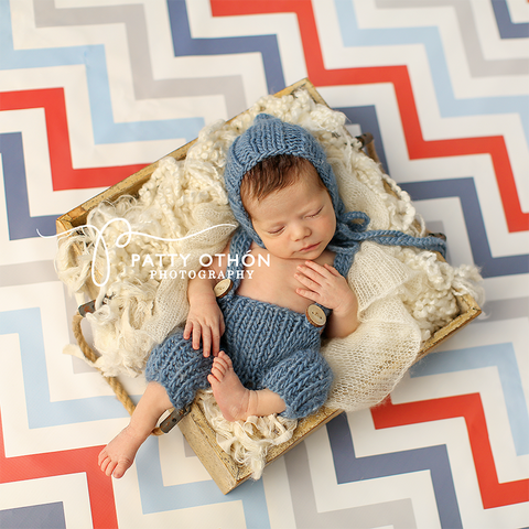 Photography Backdrop | Nautical Chevron