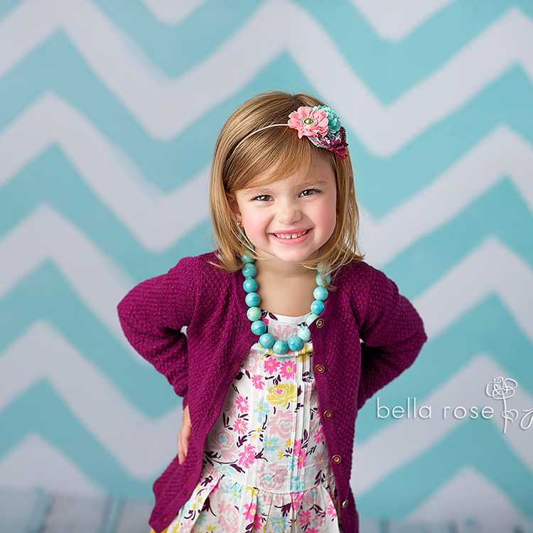 Blue Painted Chevron - HSD Photography Backdrops