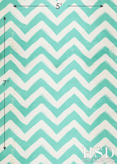 Photography Backdrop | Blue Painted Chevron