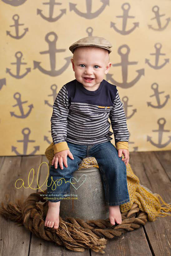 Yellow Nautical photography backdrop & background