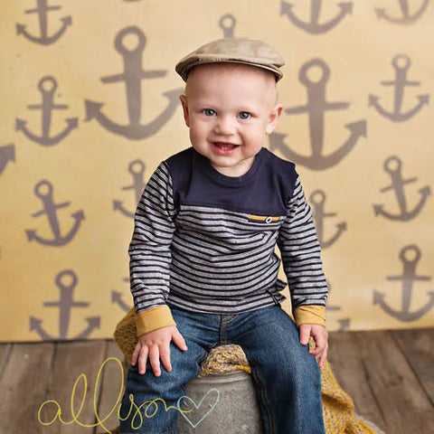 Photography Backdrop Background | Yellow Nautical