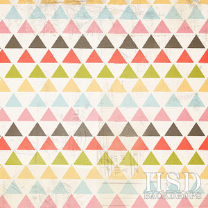 Colorful Triangles - HSD Photography Backdrops