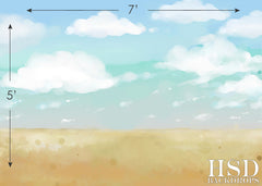 Photography Backdrop Background | Watercolor Beach