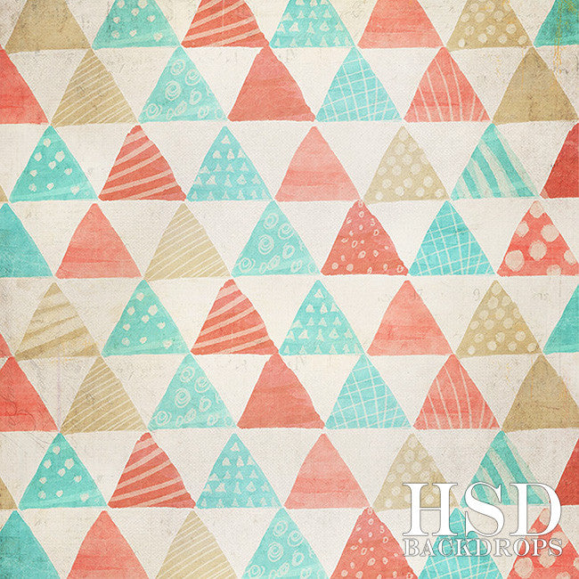 Nautical Triangles photography backdrop & background