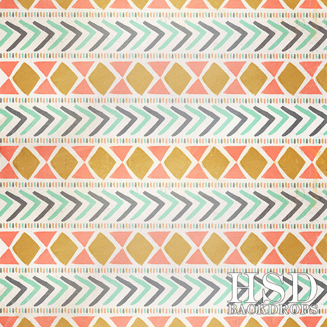 Tribal Summer photography backdrop & background