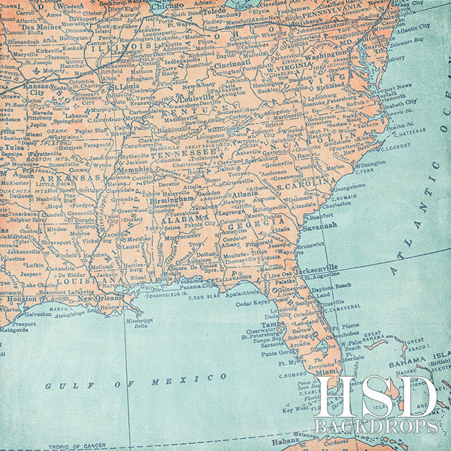 Photography Backdrop | U.S. Map