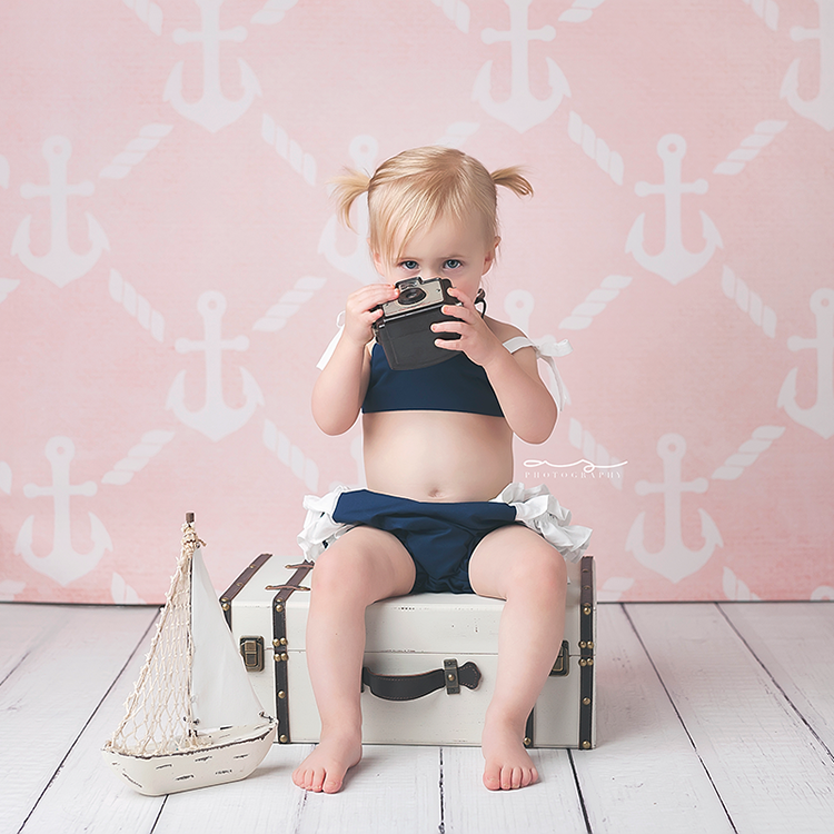 Anchors Pink - HSD Photography Backdrops