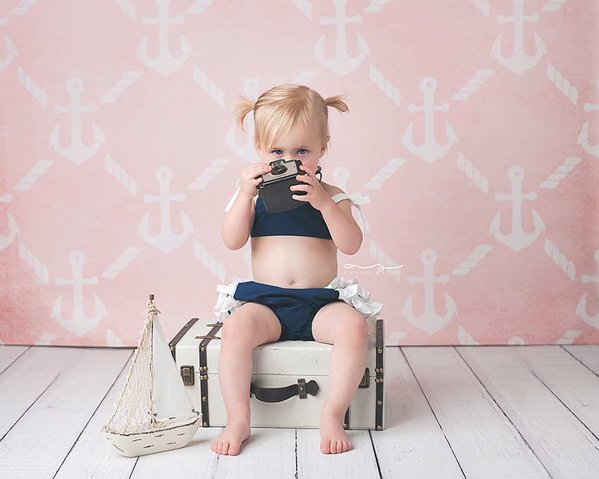 Anchors Pink photography backdrop & background