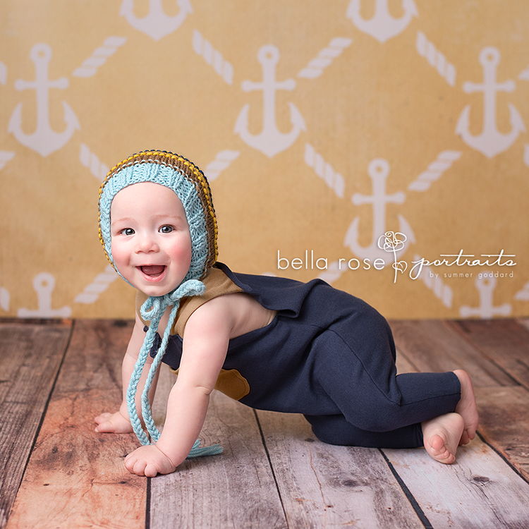 Anchors Yellow photography backdrop & background
