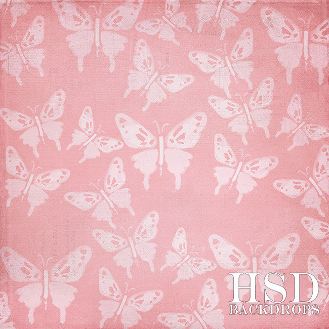 Butterfly Bliss Pink photography backdrop & background