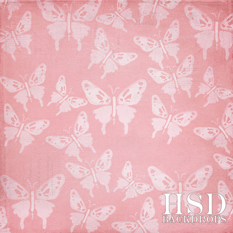 Photography Backdrop | Butterfly Bliss Pink