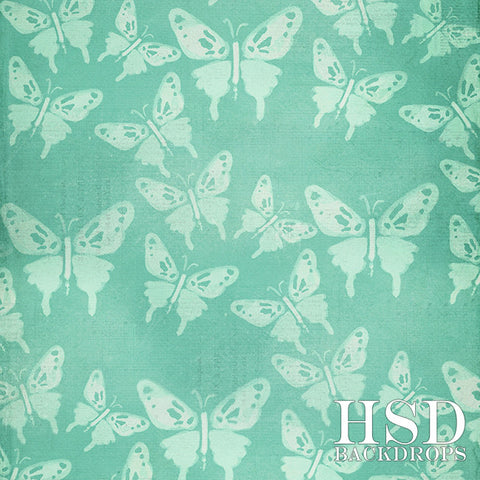 Photography Backdrop | Butterfly Bliss Mint