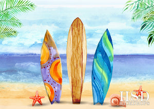 Beach Bum photography backdrop & background
