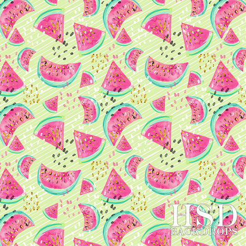 Photography Backdrop Background  | Watermelon (Green)