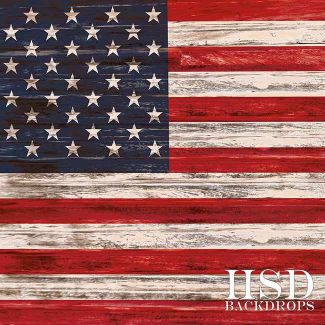 Rustic American Flag photography backdrop & background
