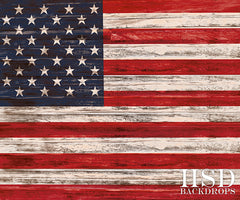 Photography Backdrop Background  | Rustic American Flag