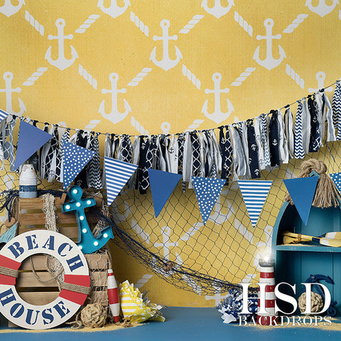 Photography Backdrop Background  | Beach House