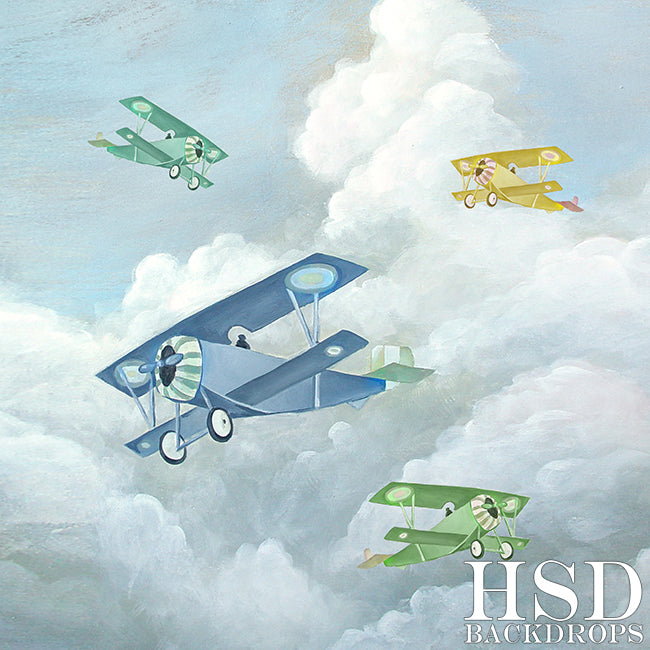 Vintage Airplanes photography backdrop & background