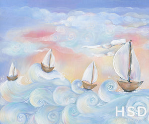 Whimsical Sailboats - HSD Photography Backdrops