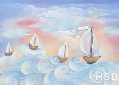 Photography Backdrop Background | Whimsical Sailboats