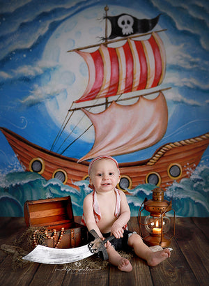 Photography Backdrop Background | Pirate Ship