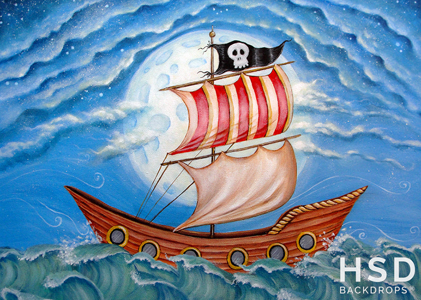 Pirate Ship photography backdrop & background