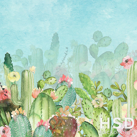 Photography Backdrop Background | Cactus Cutie
