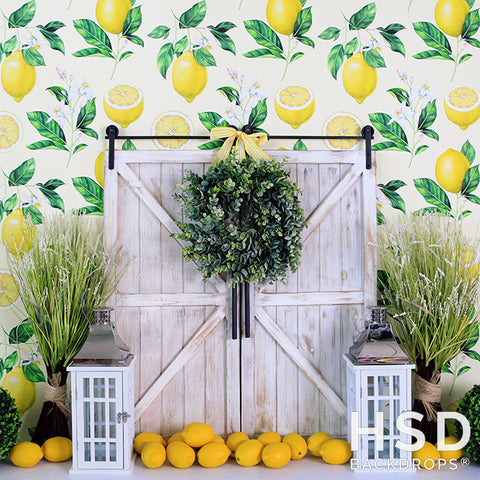 Photography Backdrop Background | Lemon Drop