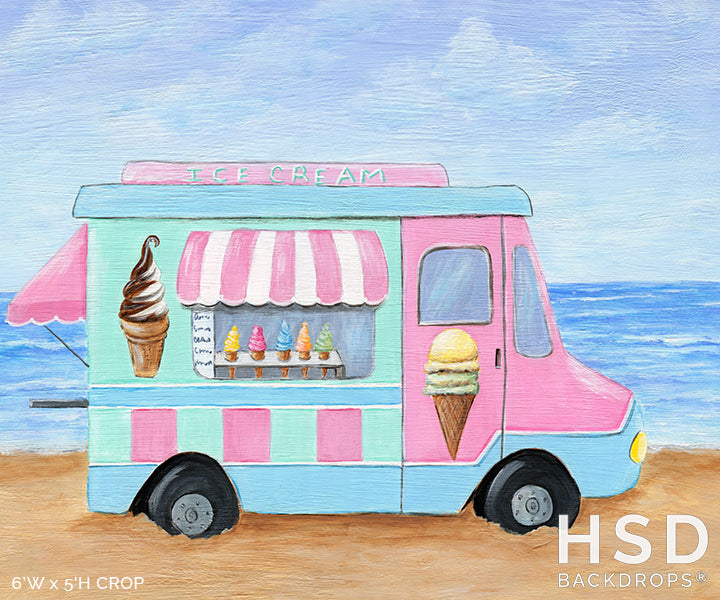 Ice Cream Truck photography backdrop & background