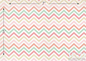 Pastel Chevron - HSD Photography Backdrops