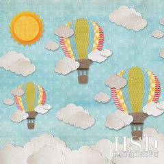 Photography Backdrop | Hot Air Balloons Boy