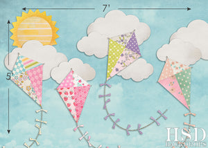 Fly a Kite photography backdrop & background