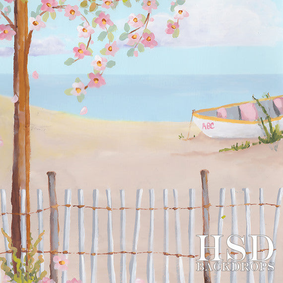 Beach Scene photography backdrop & background