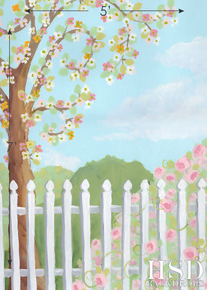 Spring Scene photography backdrop & background