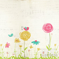 Photography Backdrop Background | Flower Garden