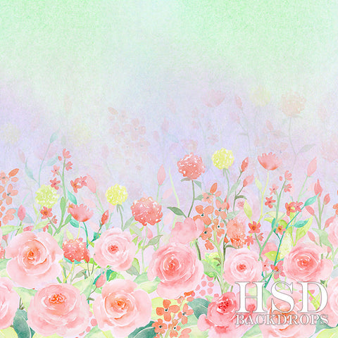 Spring Photography Backdrop | Rose Garden