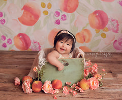 Spring Photography Backdrop | Sweet Peach