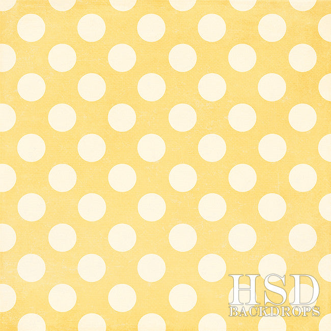 Photography Backdrop Background | Yellow Polka Dots