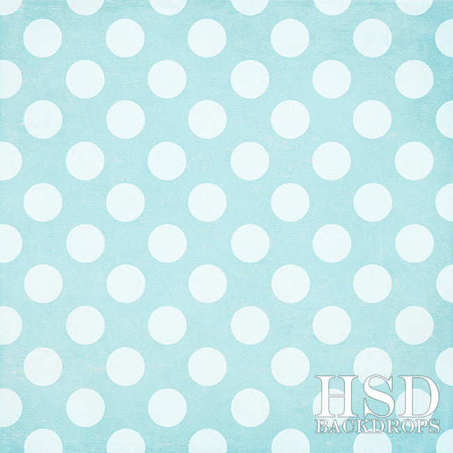 Blue Polka Dots - HSD Photography Backdrops