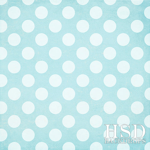 Photography Backdrop Background | Blue Polka Dots